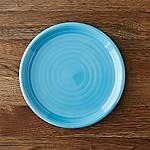 Farmhouse Aqua Salad Plate