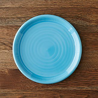 Farmhouse Aqua Salad Plate