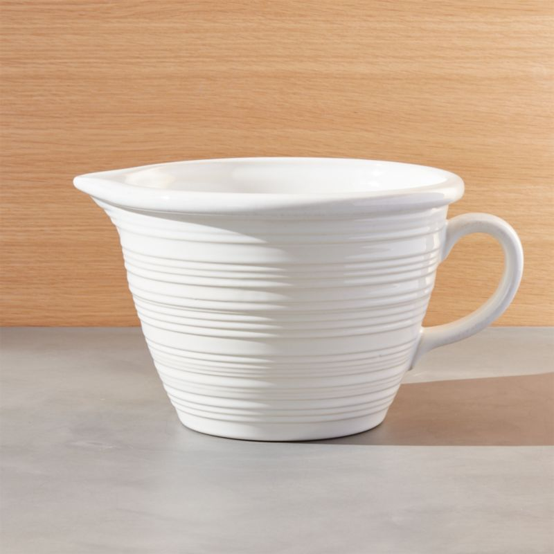 Farmhouse White Batter Bowl Reviews Crate And Barrel