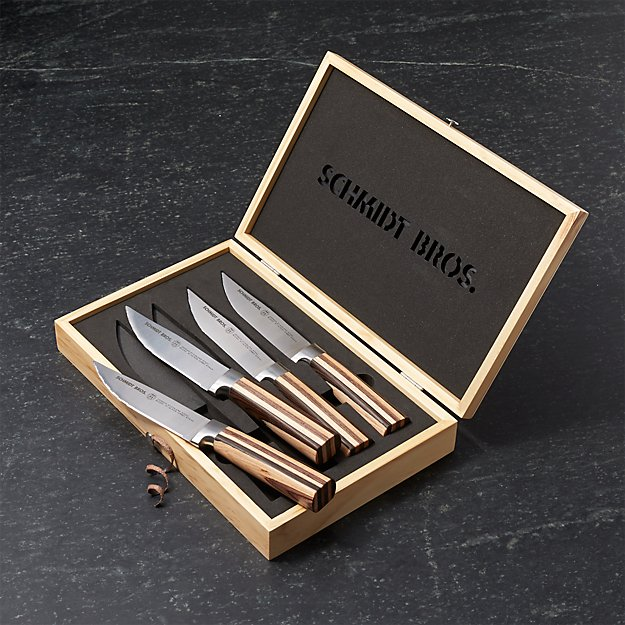 Schmidt Brothers ® Farmhouse Blend Jumbo Steak Knives, Set of 4