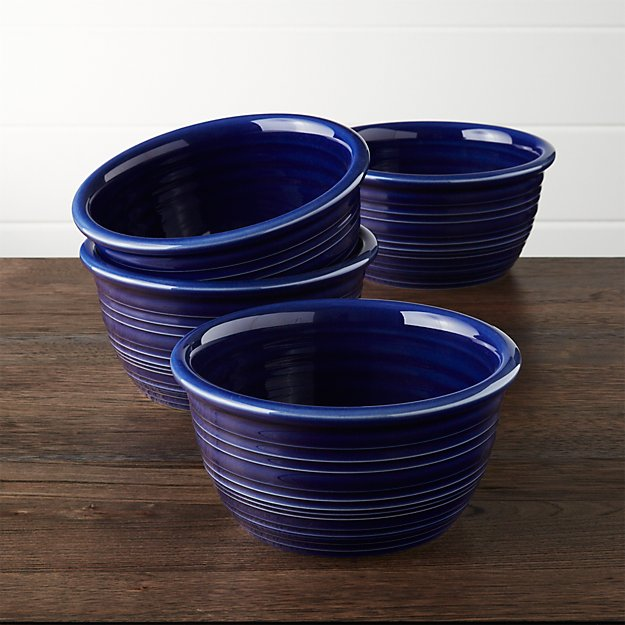 Farmhouse Blue Cereal Bowls, Set of 4