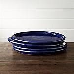 Set of 4 Farmhouse Blue Dinner Plates