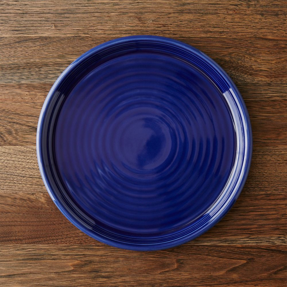 Farmhouse Blue Dinner Plate - Crate and Barrel