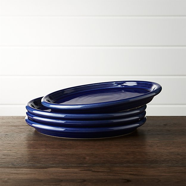 Set of 4 Farmhouse Blue Salad Plates