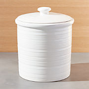 White Kitchen Canisters Crate And Barrel