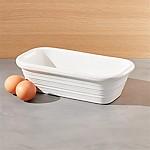 Farmhouse White Loaf Pan
