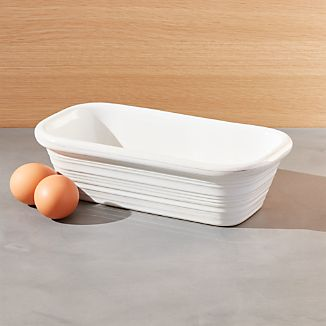 Farmhouse White Loaf Pan