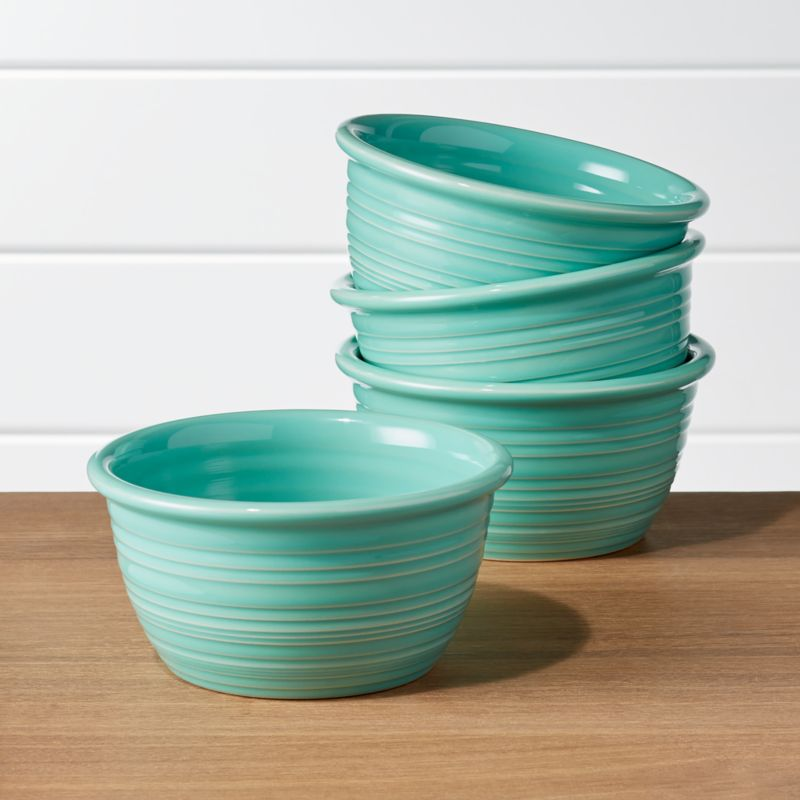Farmhouse Mint Green Cereal Bowls, Set Of 4 by Crate&Barrel