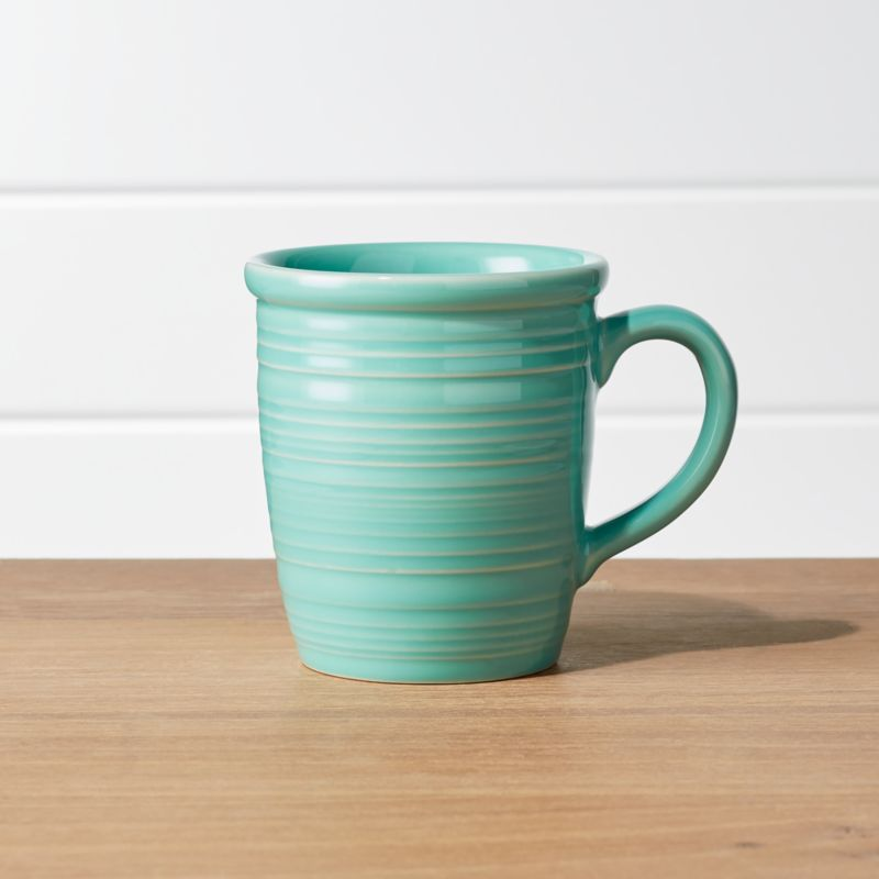 Farmhouse Mint Green Mug by Crate&Barrel