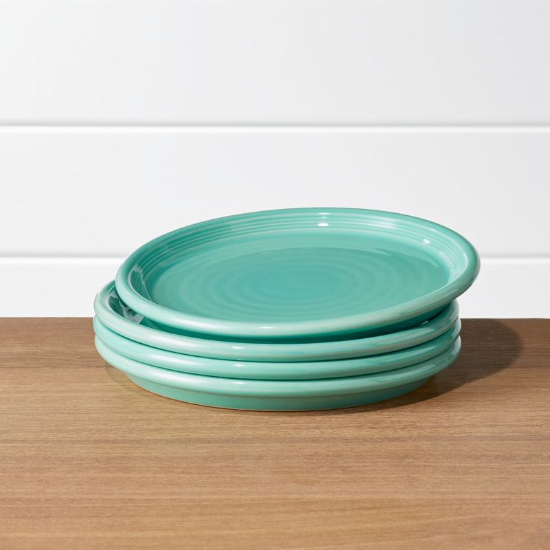 Farmhouse Mint Green Salad Plates, Set Of 4 by Crate&Barrel