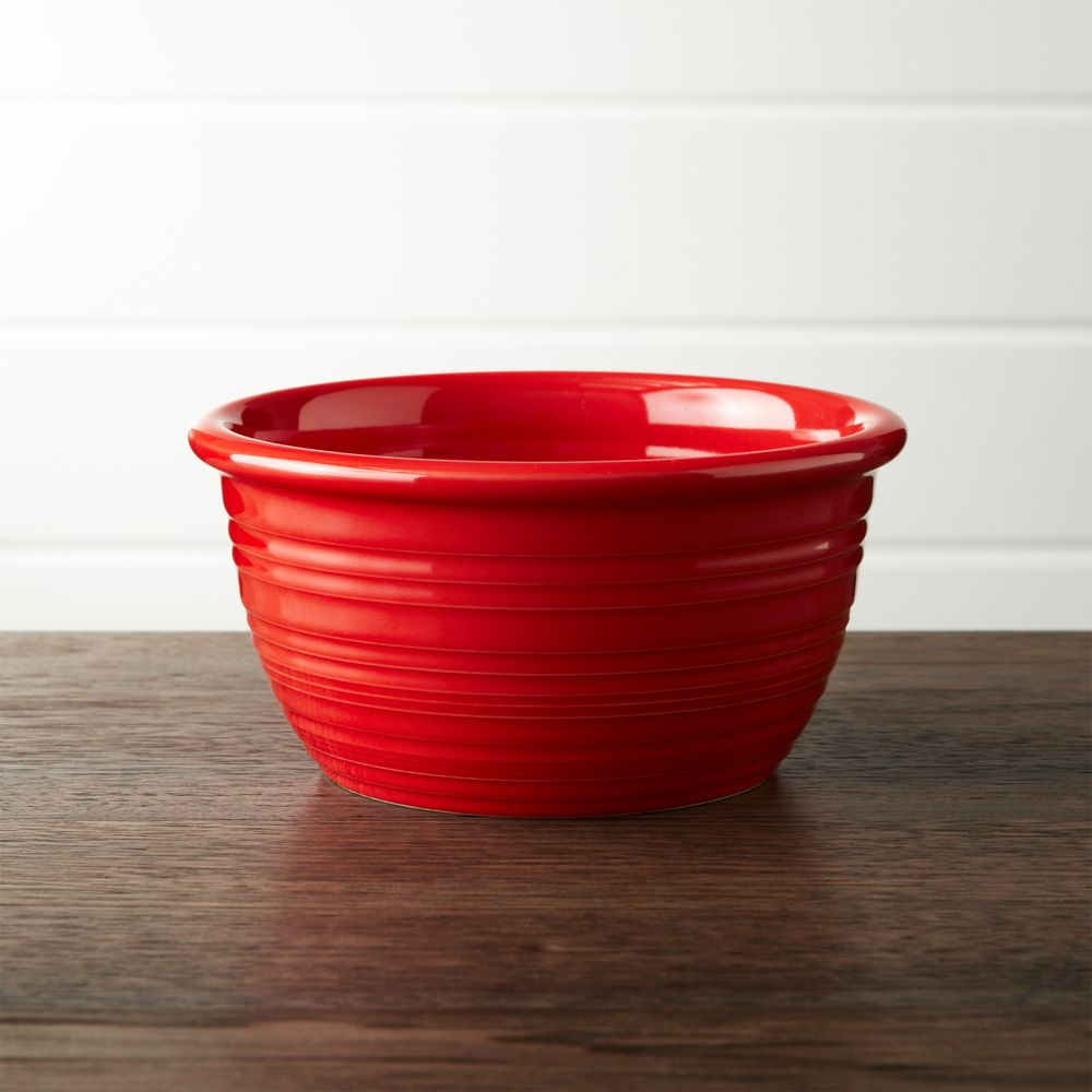 Farmhouse Red Cereal Bowl - Crate and Barrel
