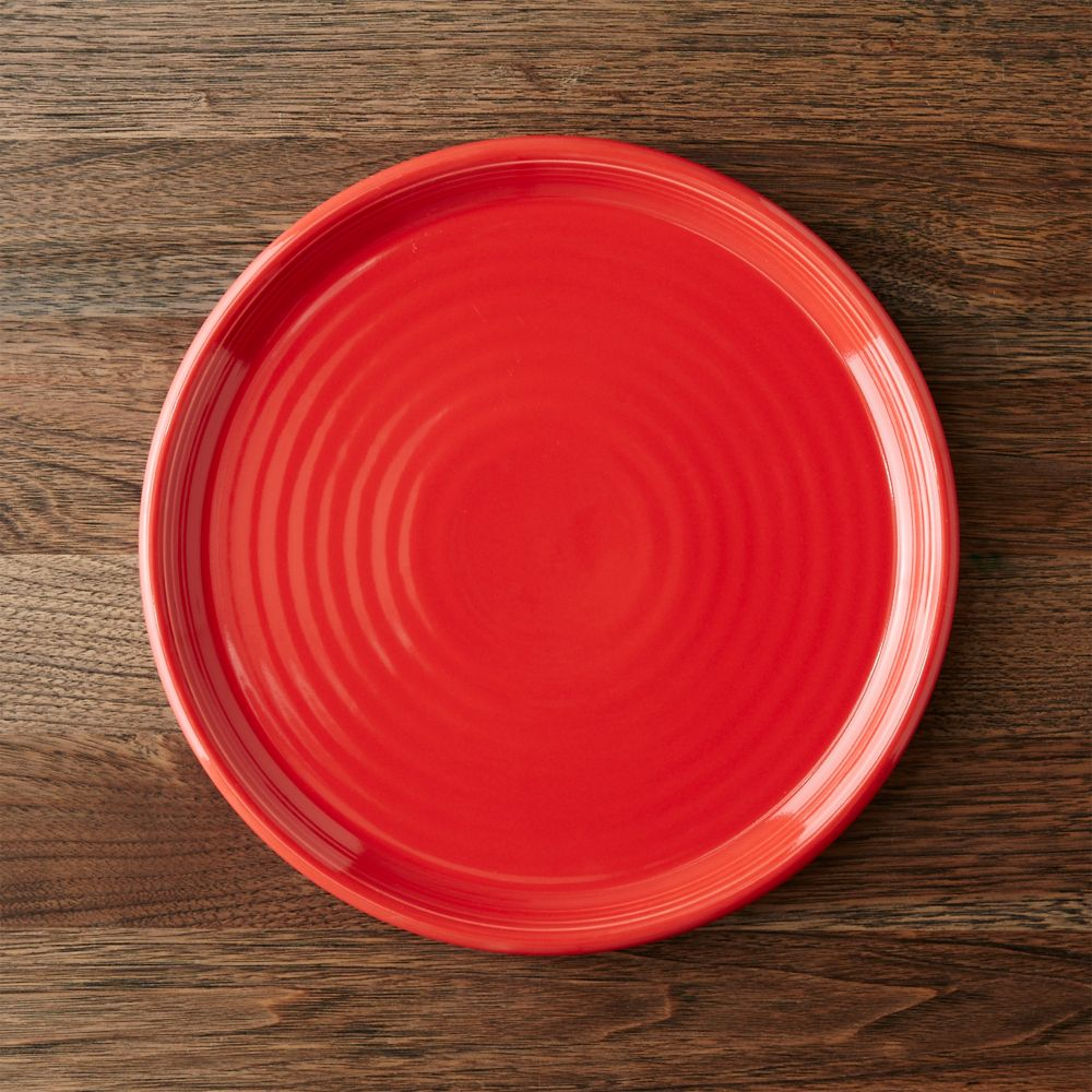 Farmhouse Red Dinner Plate - Crate and Barrel