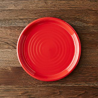 Farmhouse Red Salad Plate