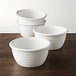 Farmhouse White Cereal Bowls, Set of 4