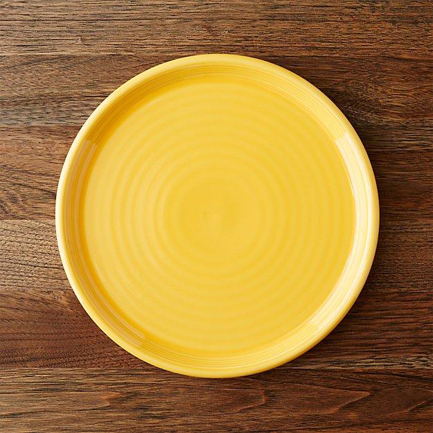 Farmhouse Yellow Dinner Plate