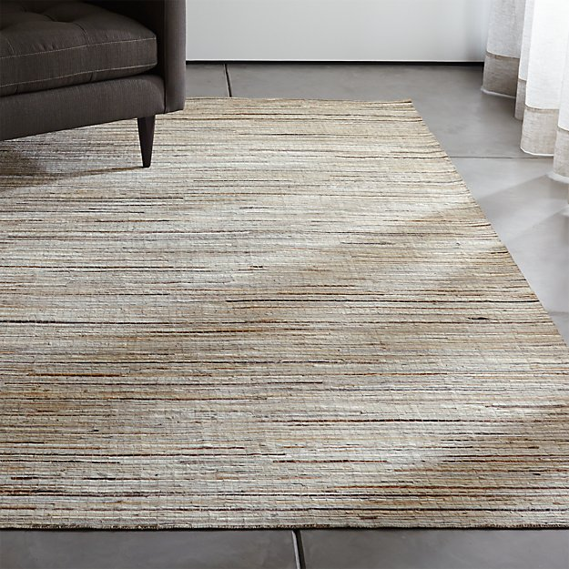 Faust Striped Cowhide Rug