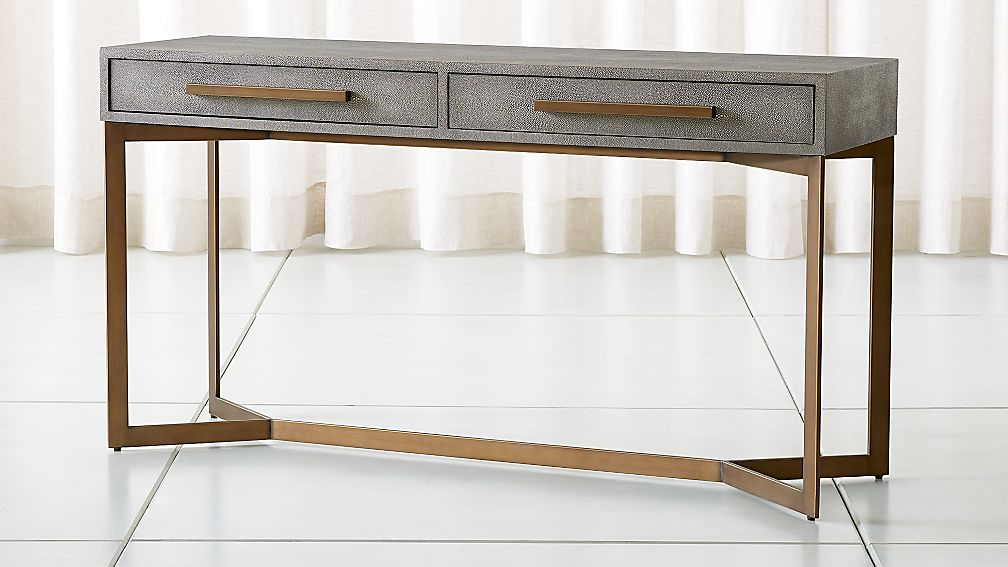 Faux Shagreen Console Table Reviews Crate And Barrel