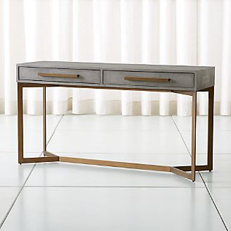 Exceptionnel Faux Shagreen Console Table