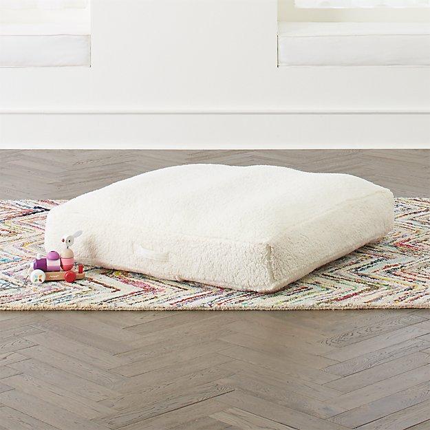 Faux Wood Flooring Reviews: Faux Shearling Teepee Floor Cushion + Reviews
