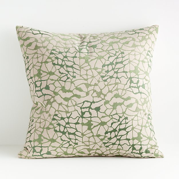 Faye Green and White Pillow - Image 1 of 6