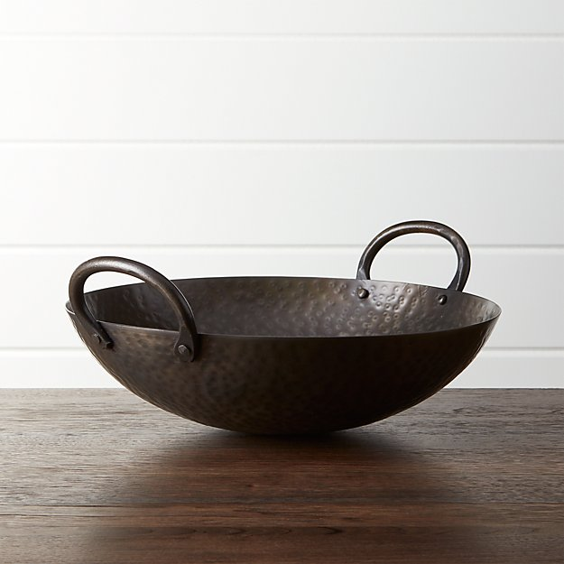 Feast Hammered Iron Serving Bowl - Image 1 of 9