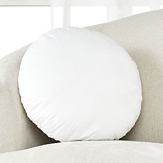 Feather-Down Round Pillow Insert 18""