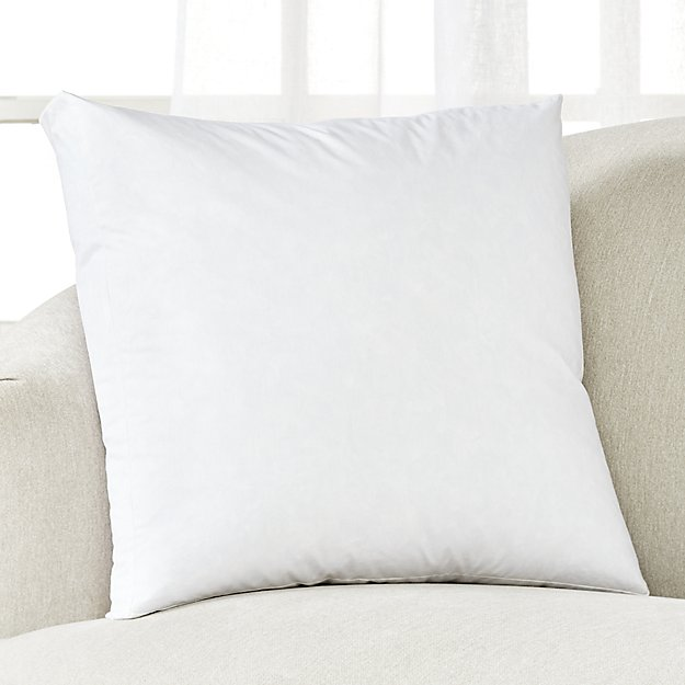 """Feather-Down Box Pillow Insert 20"""" - Image 1 of 2"""