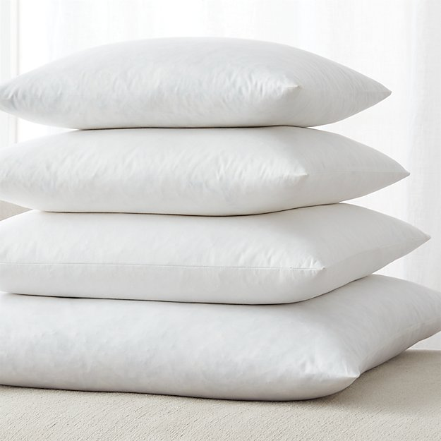 Feather down square pillow inserts crate and barrel for Best down pillow inserts