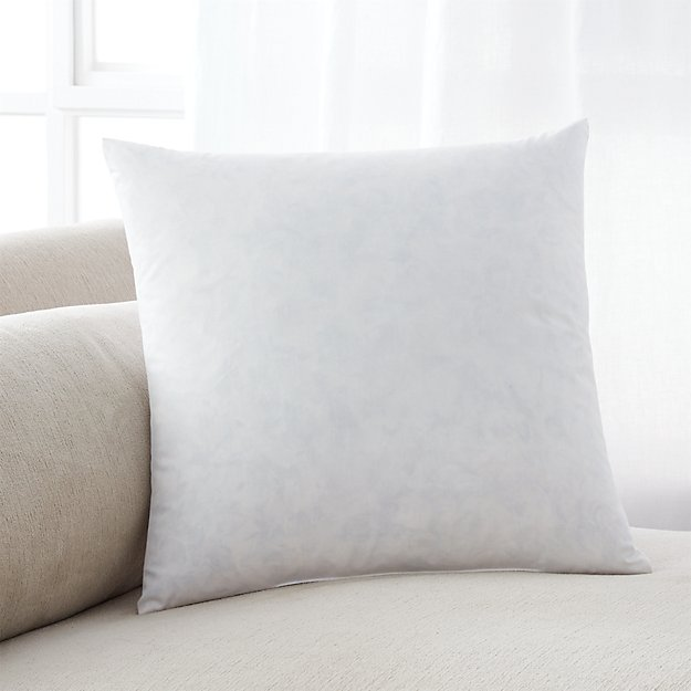 Feather Down 16 Quot Pillow Insert Crate And Barrel