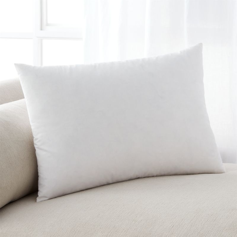 Feather Down 18x12 Pillow Insert Reviews Crate And Barrel