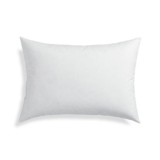 Down alternative 22quotx15 pillow insert crate and barrel for Best down pillow inserts