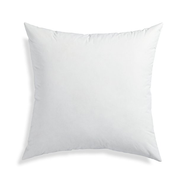FeatherDown 40 Pillow Insert Reviews Crate And Barrel Best Feather Throw Pillow Inserts