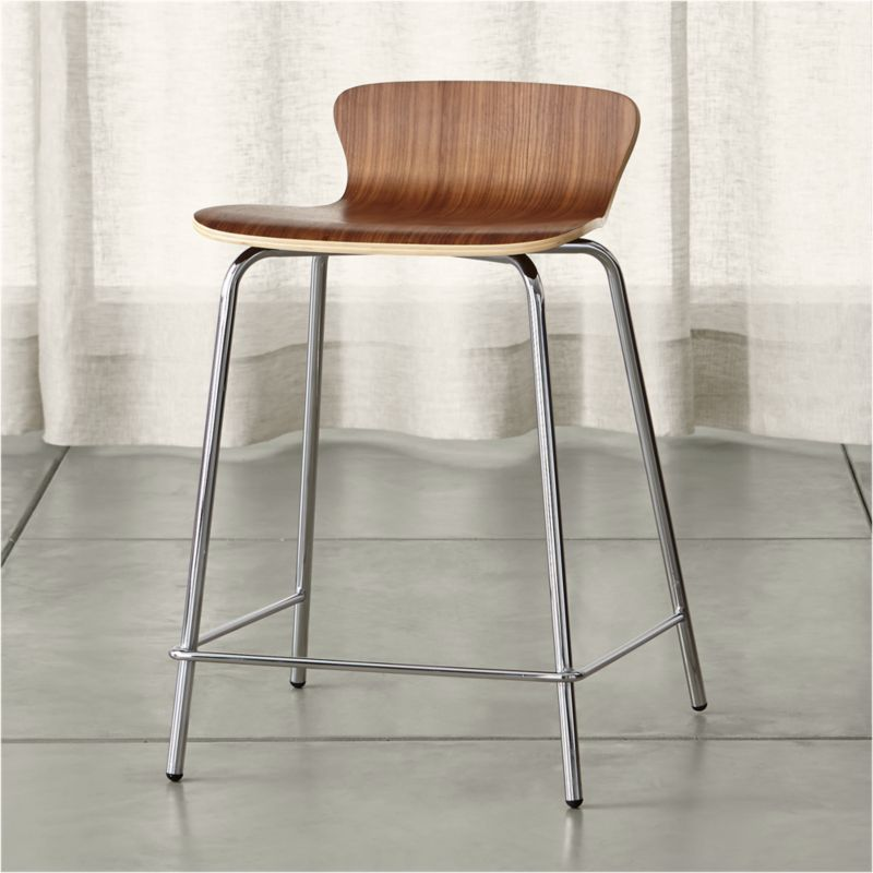 Felix Walnut Counter Stool Reviews Crate and Barrel