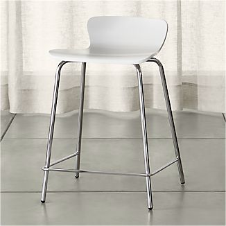 Felix White Counter Stool