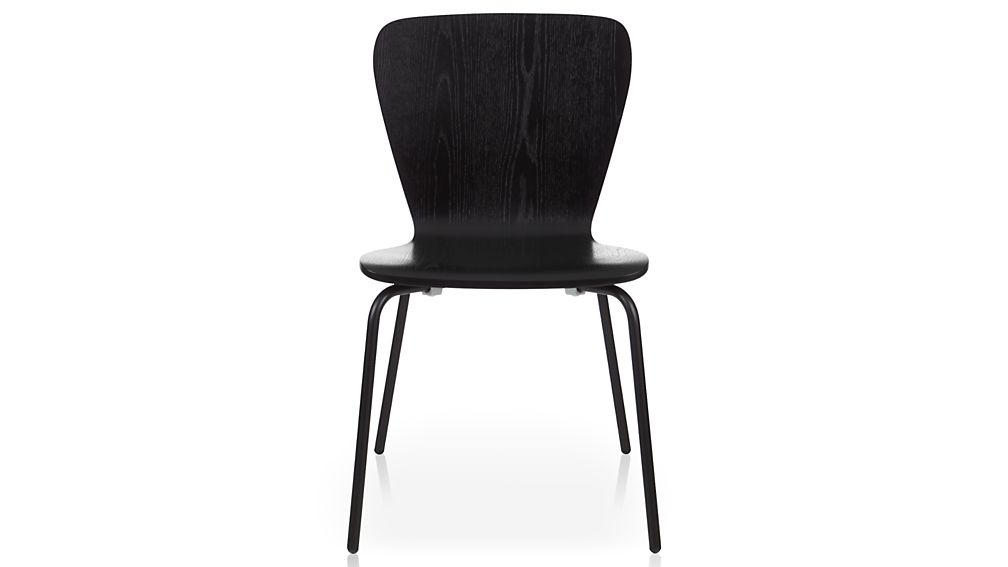 felix black dining chair | crate and barrel