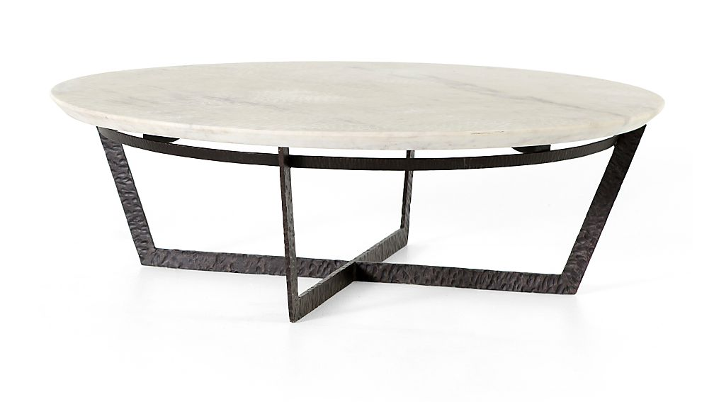 Verdad Round White Marble Coffee Table Reviews Crate And Barrel