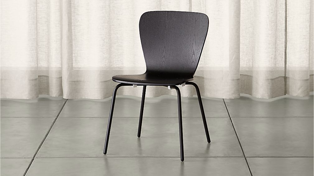 Felix Black Dining ChairCrate and Barrel