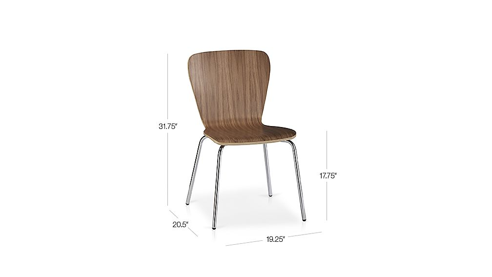 Felix Walnut Dining Chair Crate And Barrel