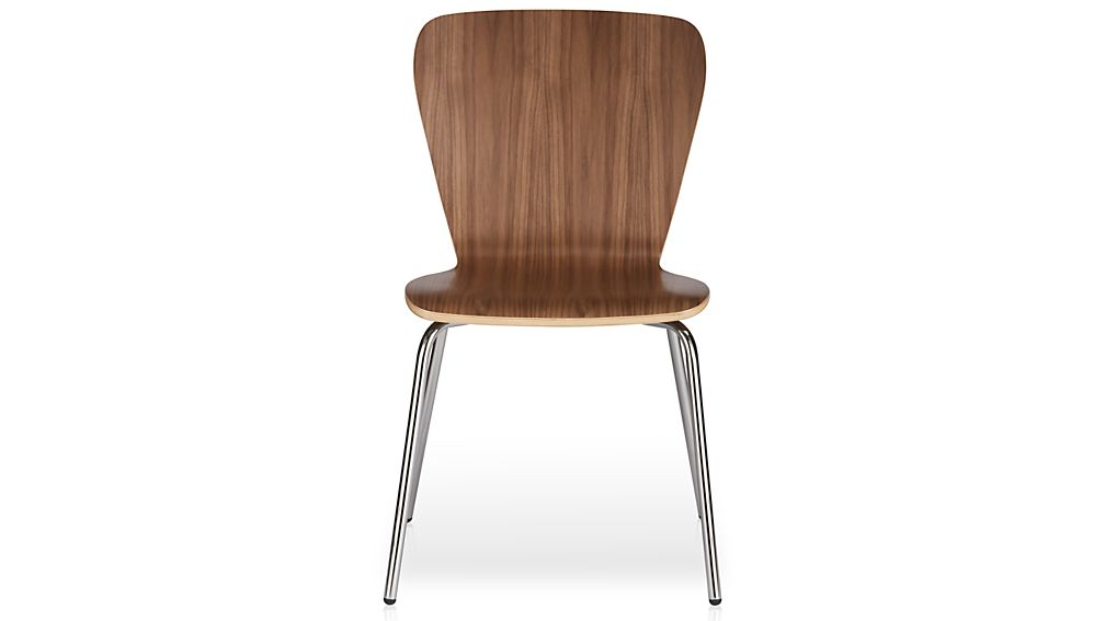 felix walnut dining chair | crate and barrel