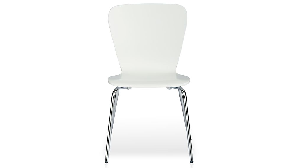 felix white dining chair | crate and barrel