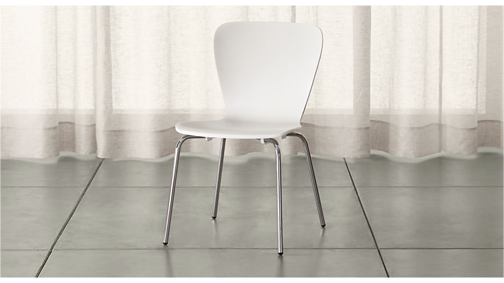 Felix White Dining Chair Reviews Crate And Barrel
