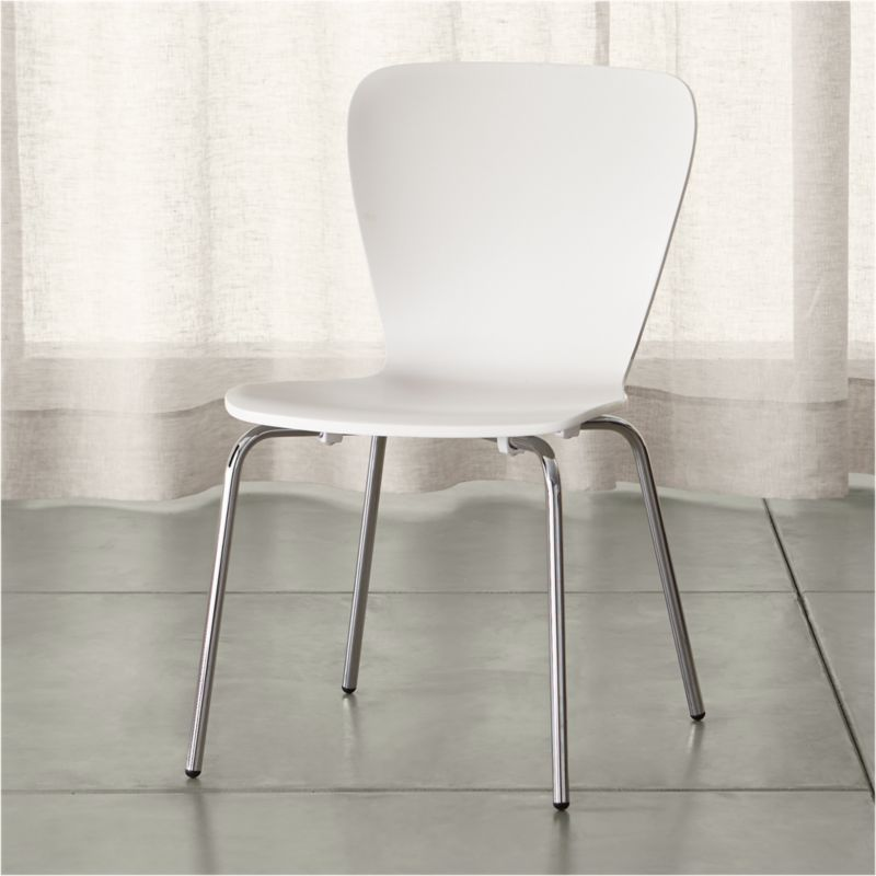 Felix White Dining Chair & Shop Dining Chairs u0026 Kitchen Chairs | Crate and Barrel