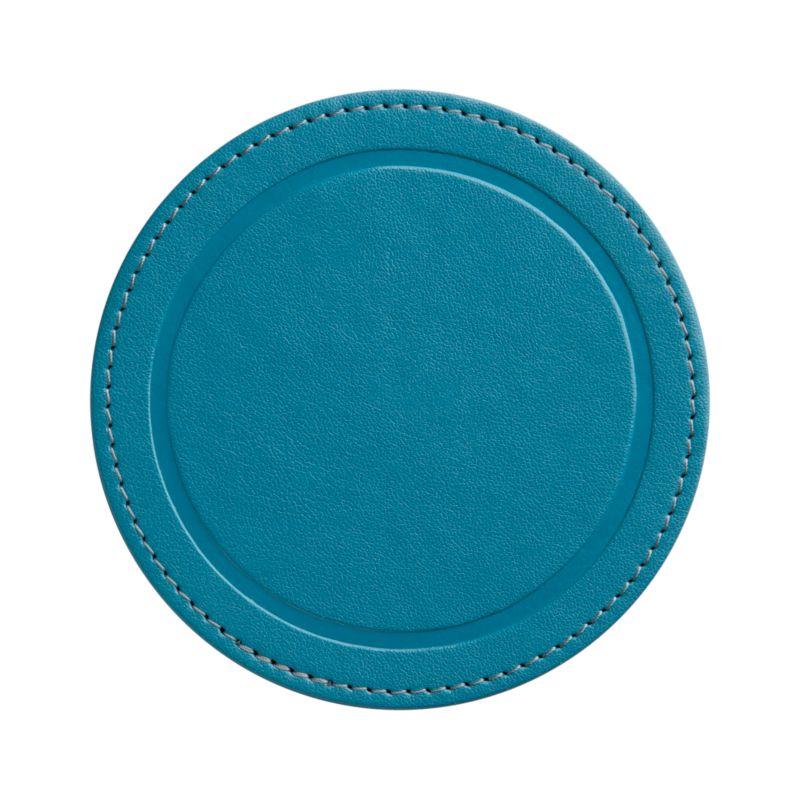 Casual round coaster takes it easy in a festive hue.<br /><br /><NEWTAG/><ul><li>49% polyurethane,  49% recycled paper, 2% thread</li><li>Clean with a soft cloth</li><li>Made in Thailand</li></ul>