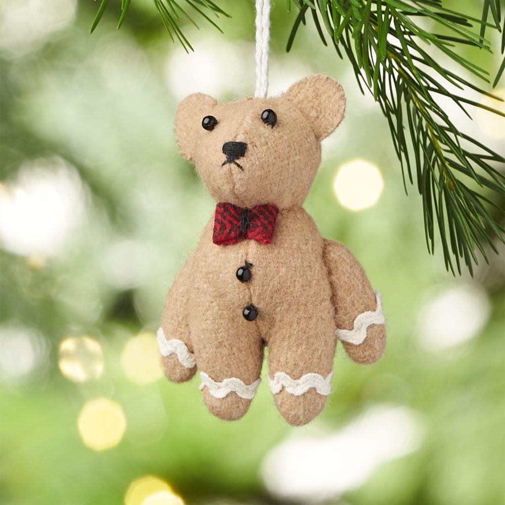 Gingerbear Felt Christmas Ornament - Crate and Barrel
