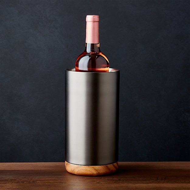 Fenton Graphite and Wood Wine Cooler - Image 1 of 5