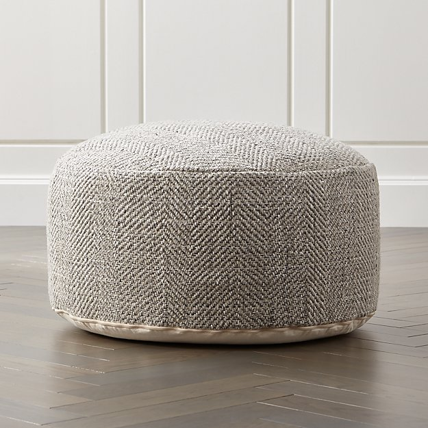 Fergus 30 Quot Round Pouf Reviews Crate And Barrel