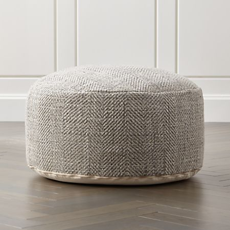 Enjoyable Fergus 30 Round Pouf Gmtry Best Dining Table And Chair Ideas Images Gmtryco