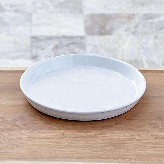 Festive Large White Saucer
