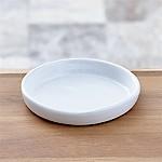 Festive Small White Saucer