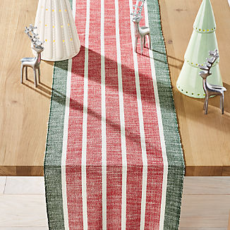 "Festive Stripe 90"" Table Runner"